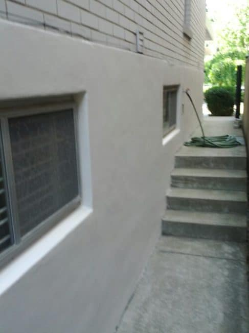 Stucco Exterior Wall Painted