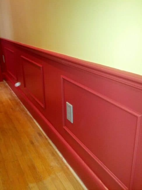 painting with red paint