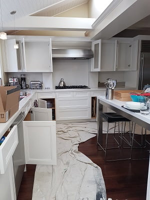 kitchen cabinets in oil paint