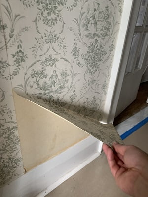 removing wallpaper dry