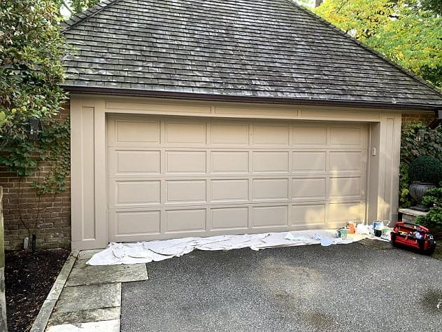 Exterior Painting Of Garage In October